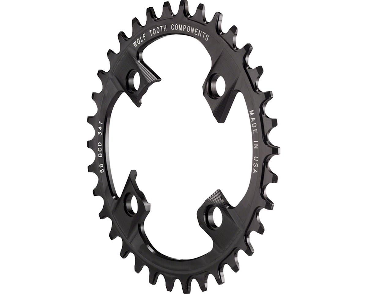 Wolf Tooth Components Drop-Stop Chainring (88BCD) (34T)