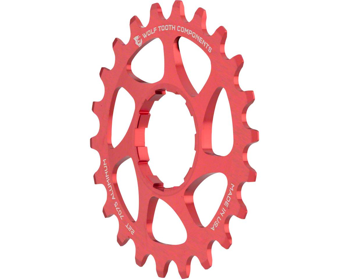 """22T Wolf Tooth Components Single Speed Aluminum Cog 3//32/"""" Red"""