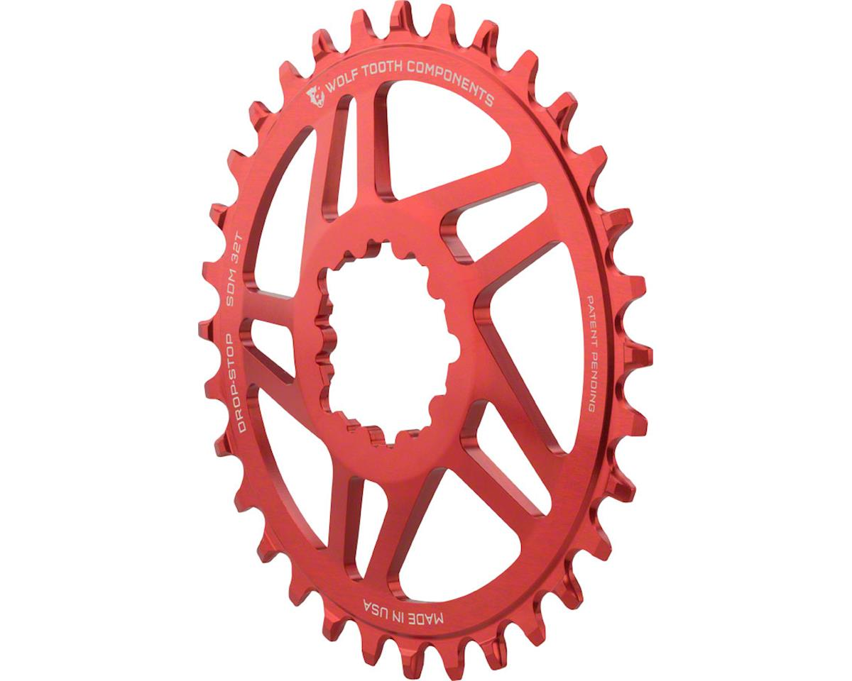 Wolf Tooth Components Direct Mount Drop-Stop Chainring (Red) (34T)