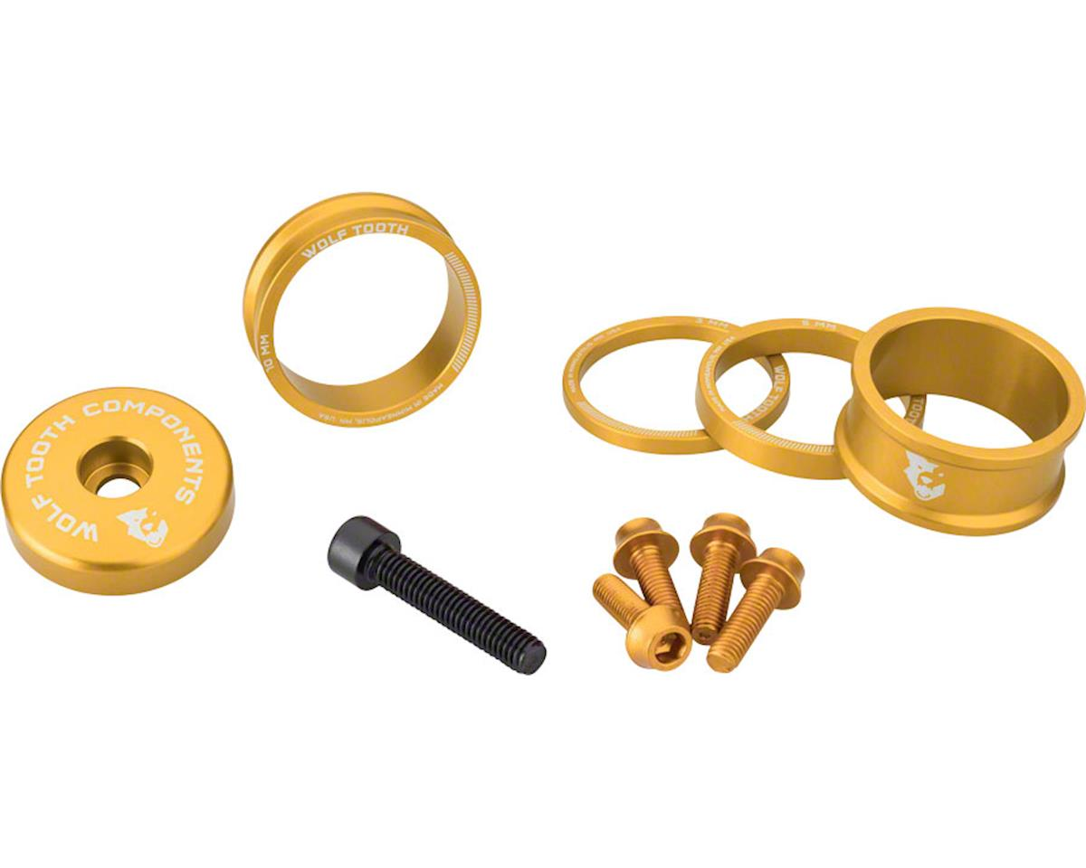 Wolf Tooth Components Headset Spacer BlingKit (Gold) (3, 5,10, 15mm)
