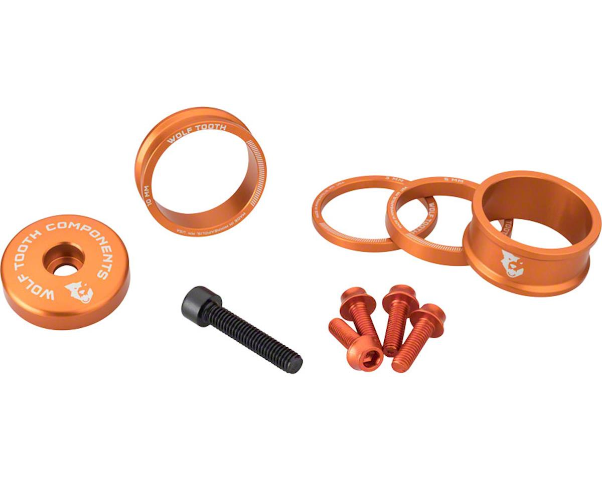 Wolf Tooth Components Headset Spacer BlingKit (Orange) (3, 5,10, 15mm)