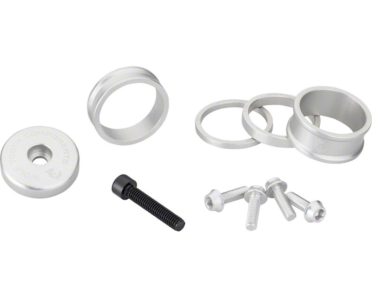 Wolf Tooth Components Headset Spacer BlingKit (Silver) (3, 5,10, 15mm)
