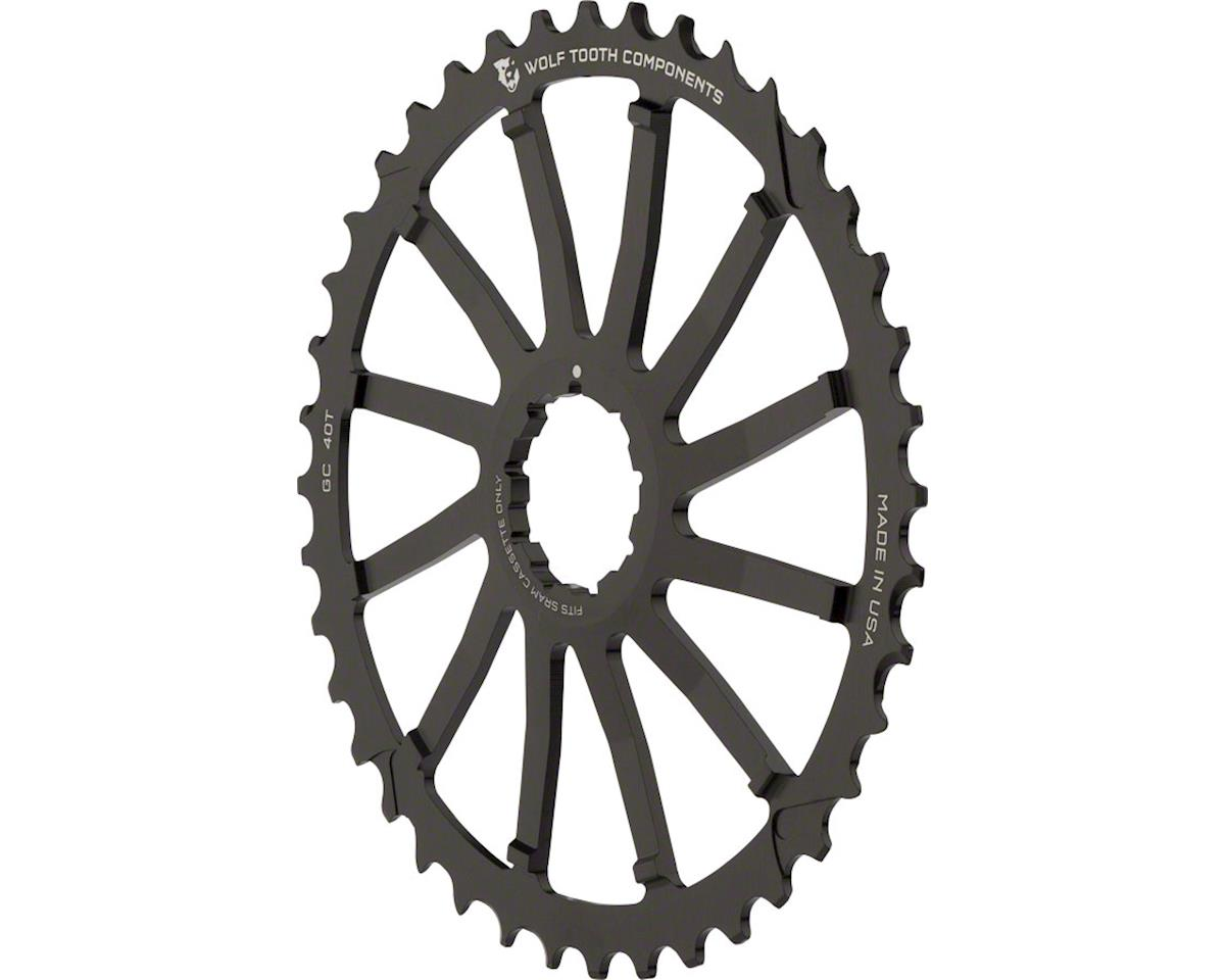 Wolf Tooth Components 40T GC cog for SRAM 11-36 10-speed Cassettes, Black