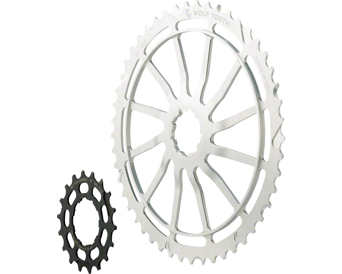 Wolf Tooth Components GC49 (Silver) (49T & 18T Cogs) (For SRAM NX Cassettes)