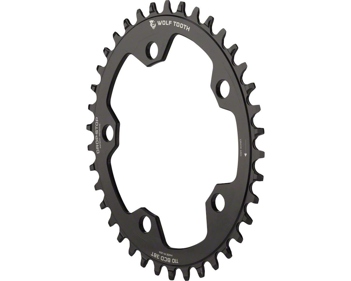 Wolf Tooth Components Drop-Stop PowerTrac Chainring (Black) (110 BCD)
