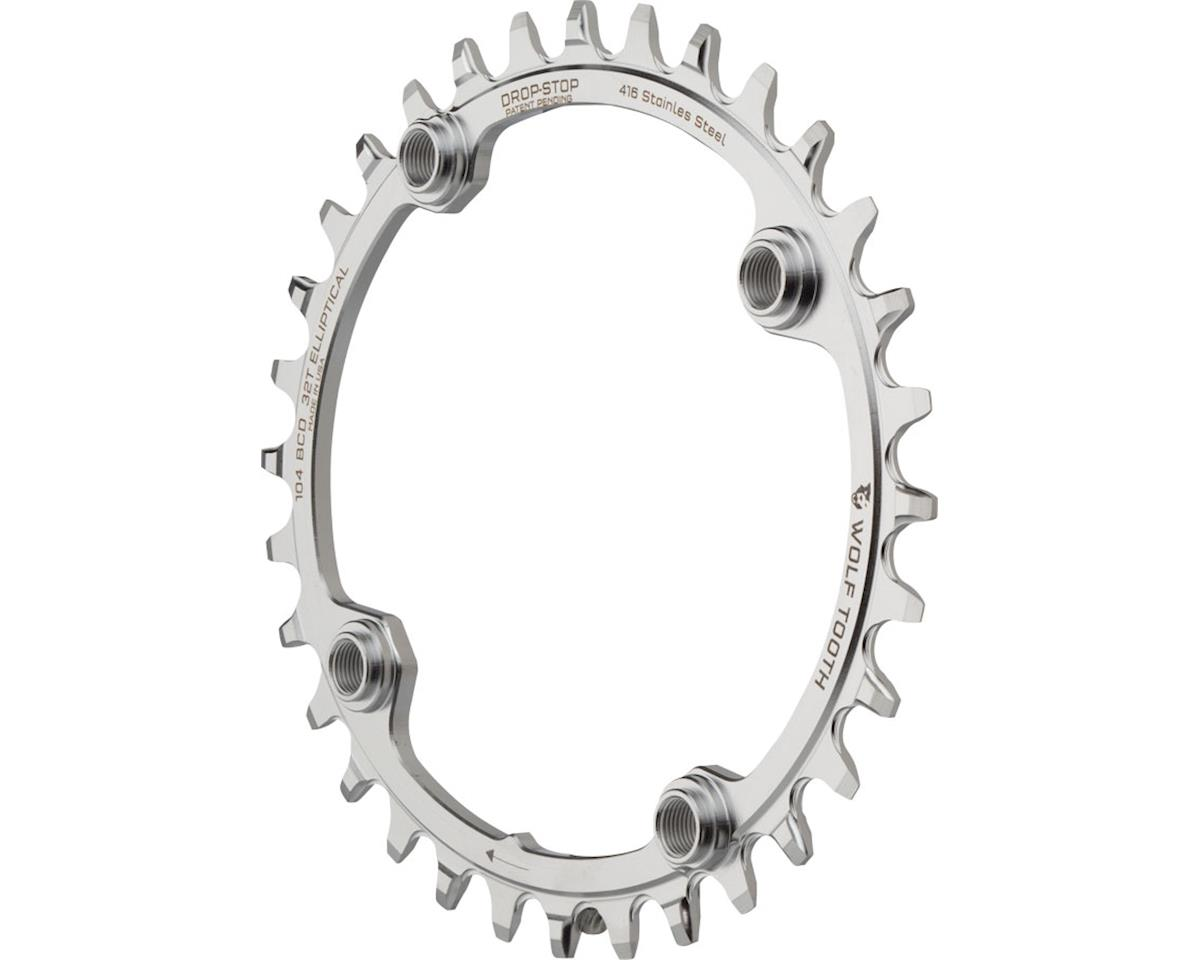 Wolf Tooth Components Powertrac Elliptical Drop-Stop Chainring (32T) (104 BCD)