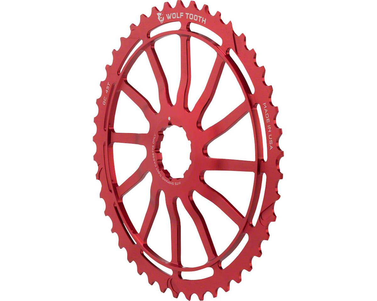 Wolf Tooth Components 45T GC Cog (Red) (For Shimano 11-36 10-speed Cassettes)