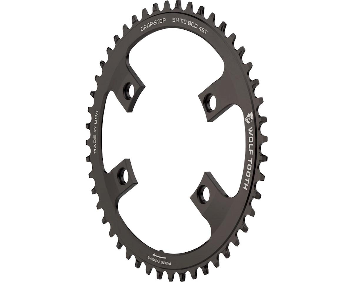 Wolf Tooth Components Drop-Stop Chainring (Shimano Asymmetric 110 BCD)  (48T) [SH11048] | Parts
