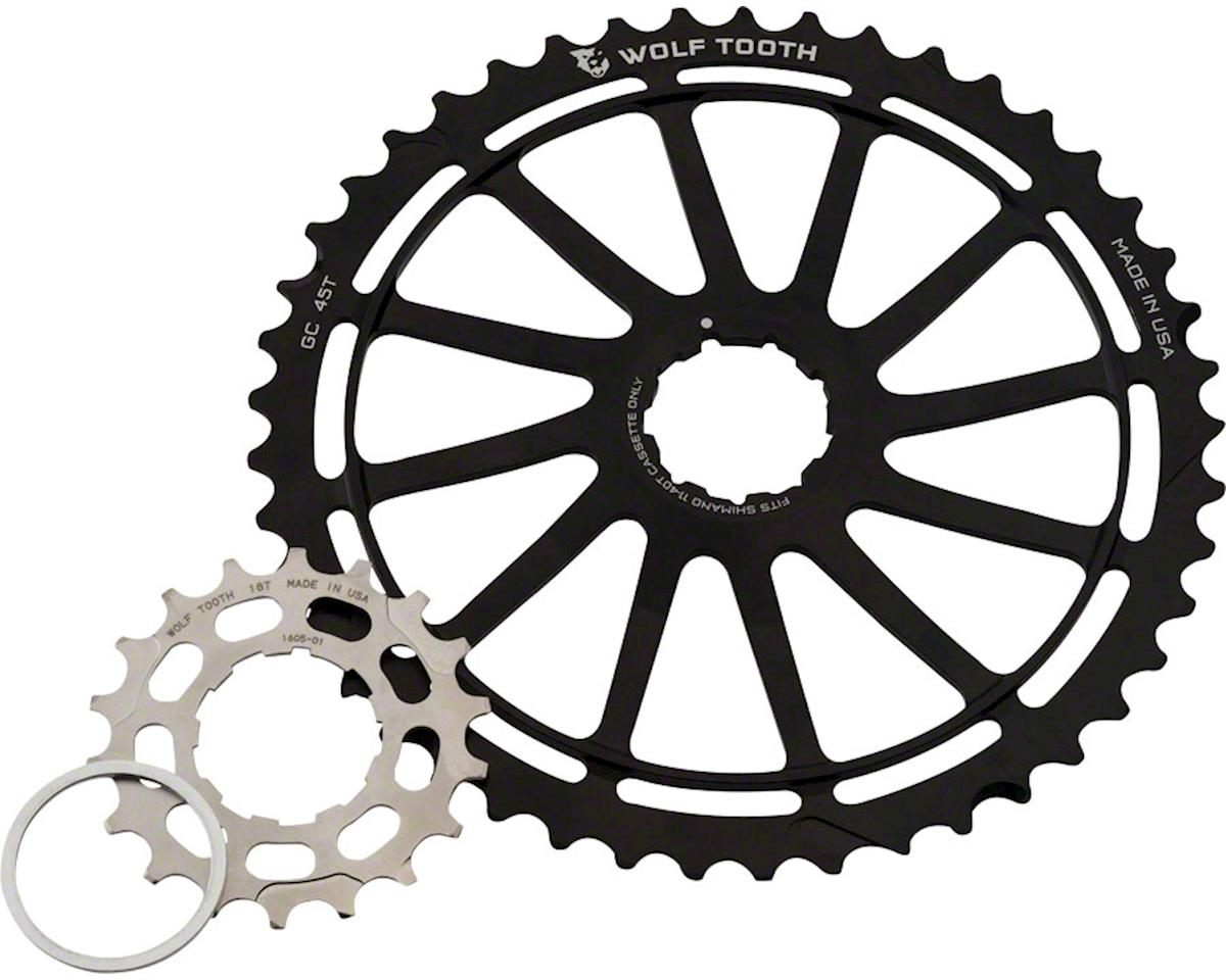 Wolf Tooth Components Silver GC45 w/ 18T & Spacer