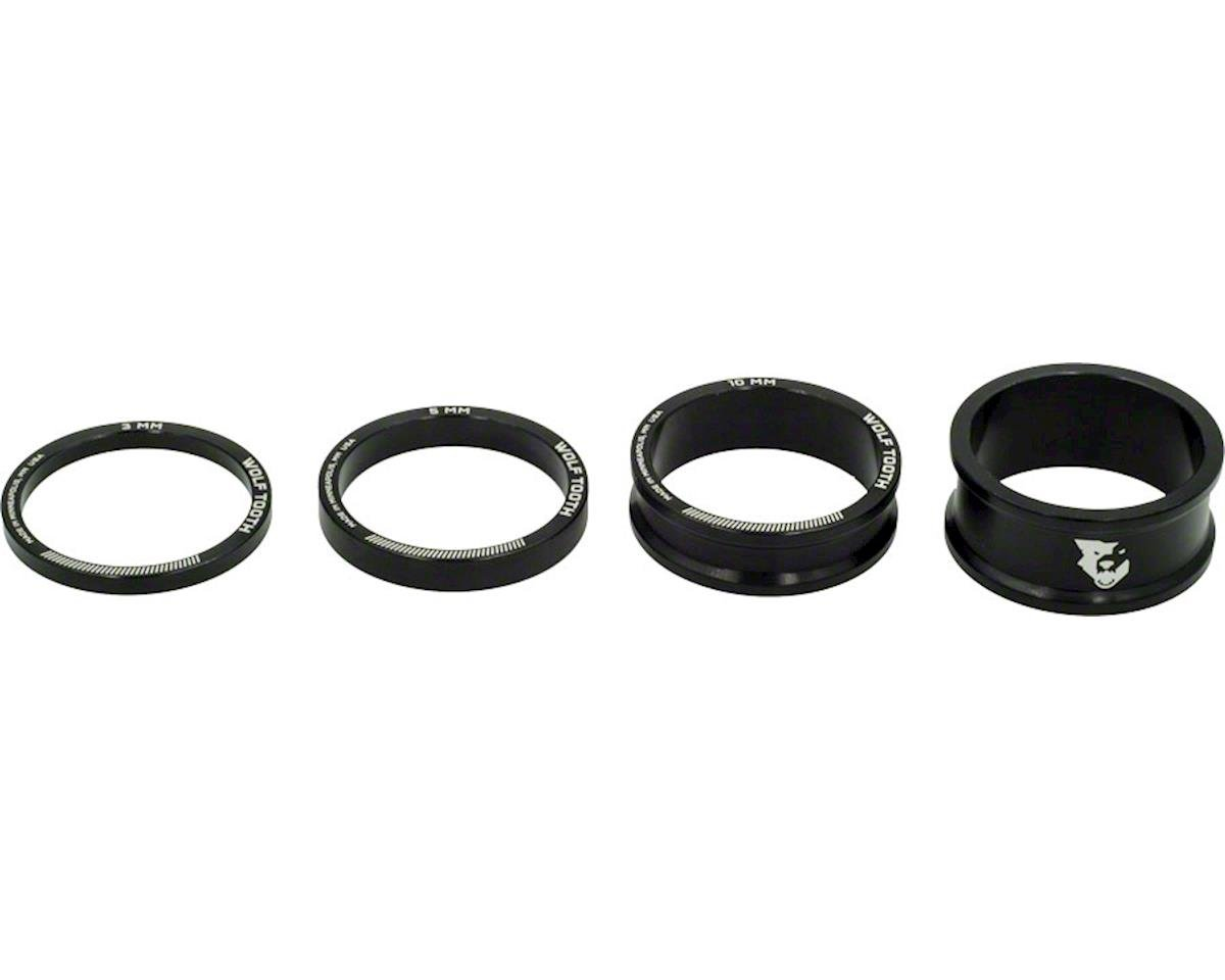 "1 1/8"" Headset Spacer Kit (Black) (3, 5, 10, 15mm)"