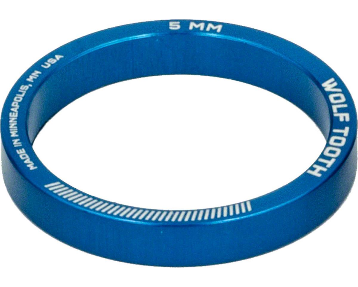 """Wolf Tooth Components 1 1/8"""" Headset Spacers (Blue) (5) (5mm)"""