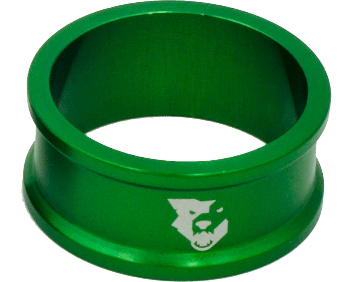"""Wolf Tooth Components 1 1/8"""" Headset Spacers (Green) (5) (15mm)"""