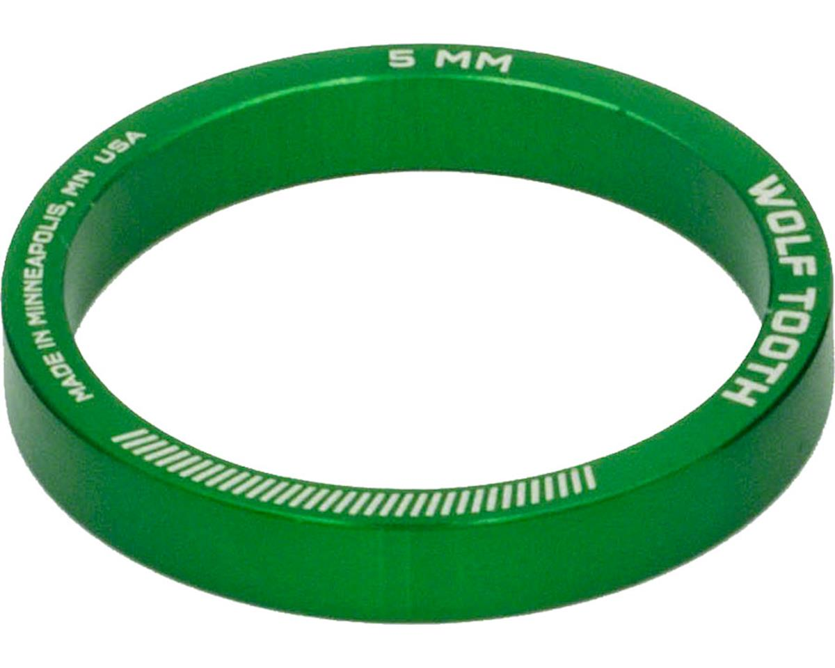 """Wolf Tooth Components 1 1/8"""" Headset Spacers (Green) (5) (5mm)"""