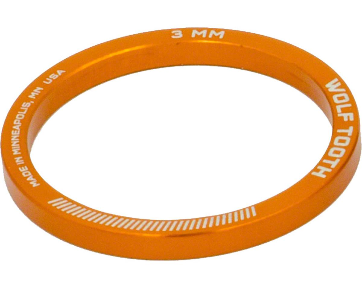 "Wolf Tooth Components  1 1/8"" Headset Spacer (Orange) (5) (3mm)"