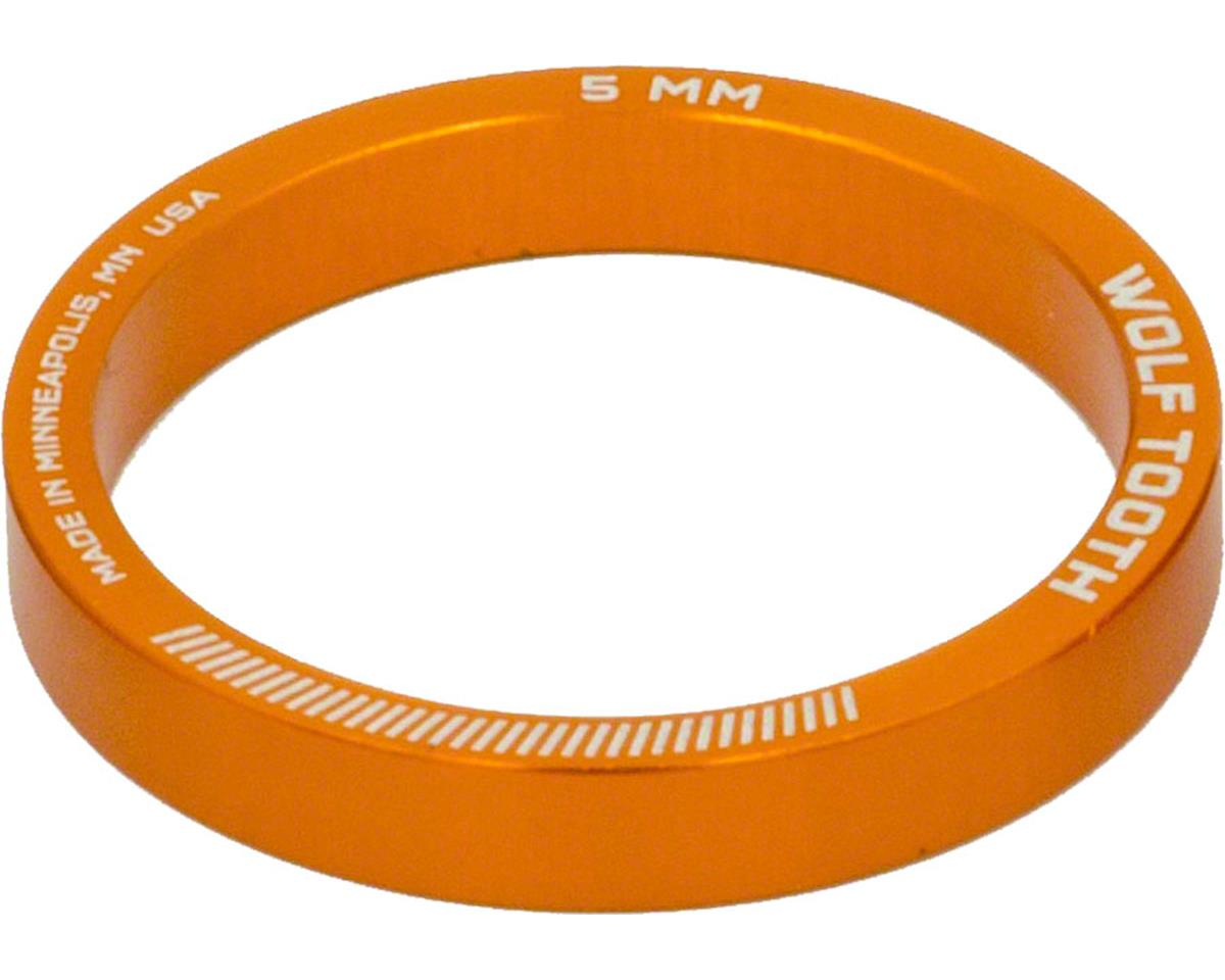 """Wolf Tooth Components  1 1/8"""" Headset Spacer (Orange) (5) (5mm)"""