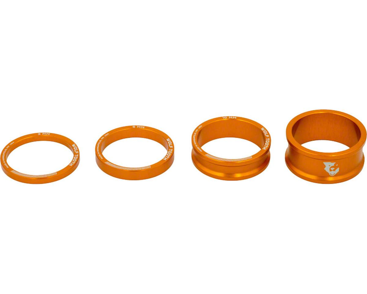 "Wolf Tooth Components 1 1/8"" Headset Spacer Kit (Orange) (3, 5, 10, 15mm) 