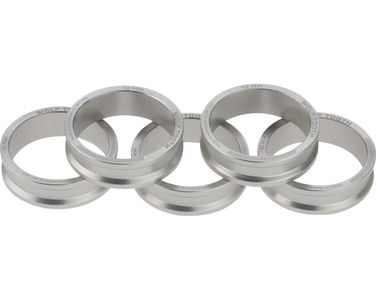 """Wolf Tooth Components 1 1/8"""" Headset Spacer (Silver) (5) (10mm)"""