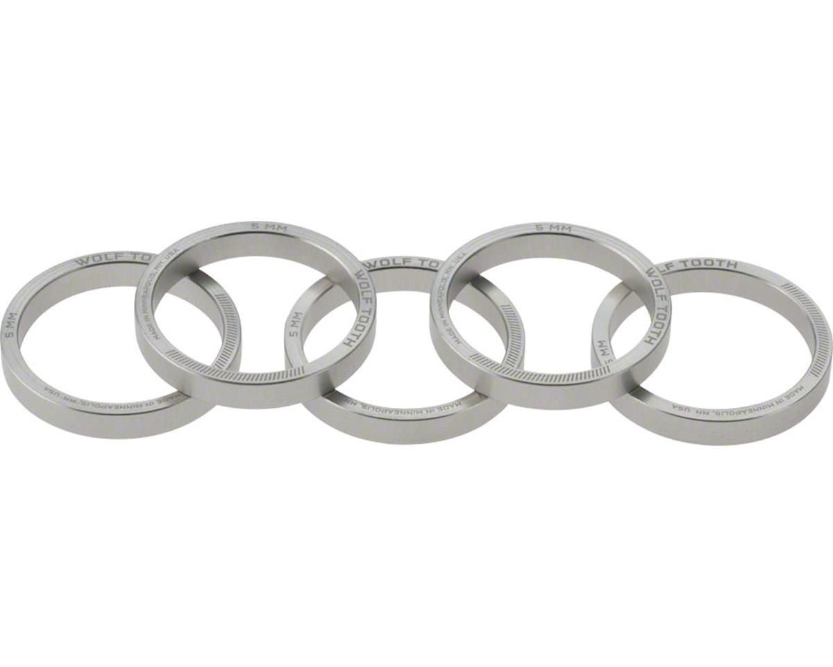 """Wolf Tooth Components 1 1/8"""" Headset Spacer (Silver) (5) (5mm)"""