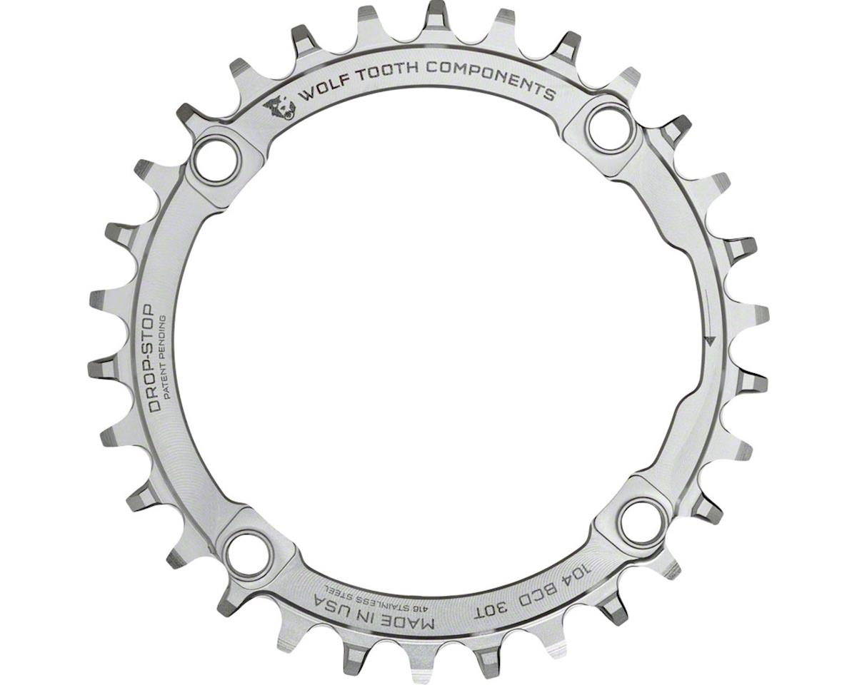 Wolf Tooth Components Drop-Stop 30T Chainring (Stainless Steel) (104 BCD)