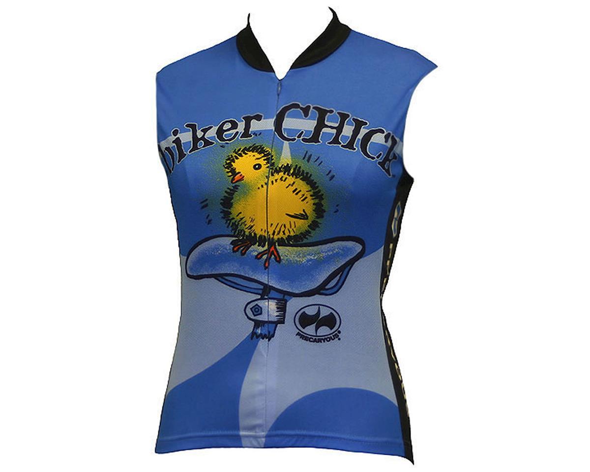 World Jerseys Women's Biker Chick Sleeveless Jersey (Blue)