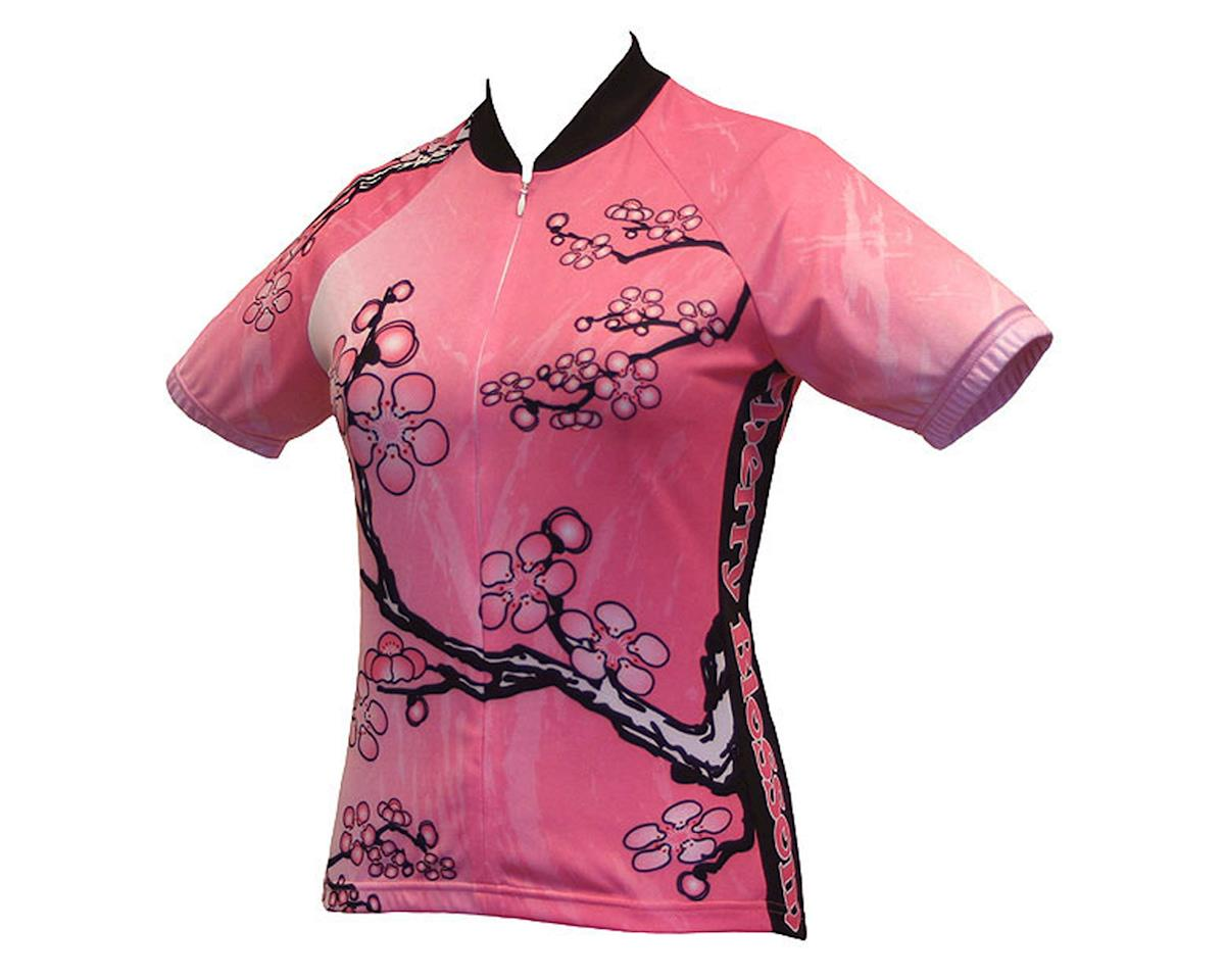 World Jerseys Women's Cherry Blossom Short Sleeve Jersey (Pink)