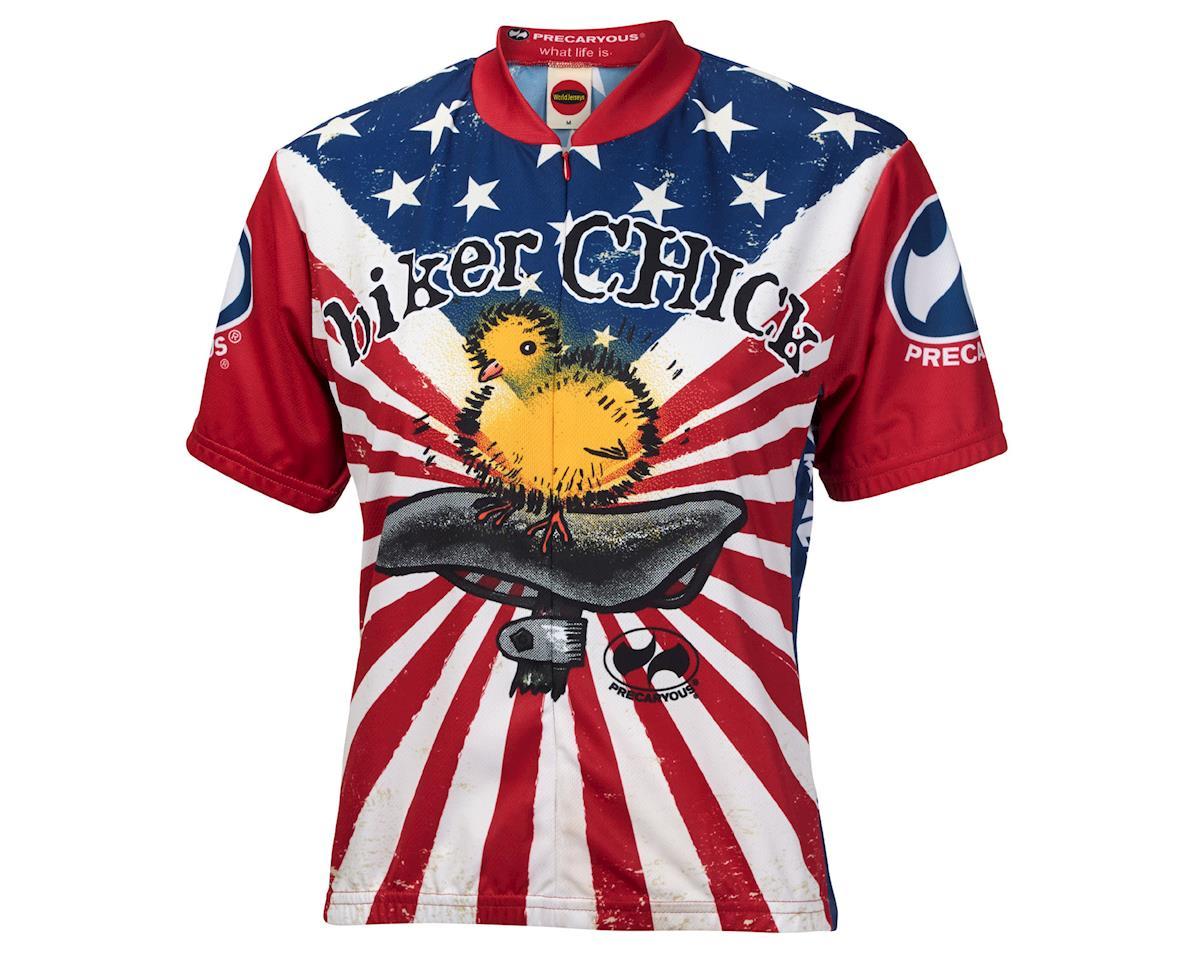 World Jerseys Women's American Chick Short Sleeve Jersey (Wh/Red)