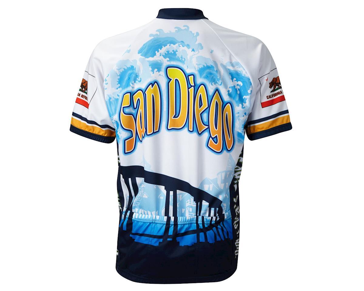 World Jerseys San Diego Short Sleeve Jersey (Wh/Blu)