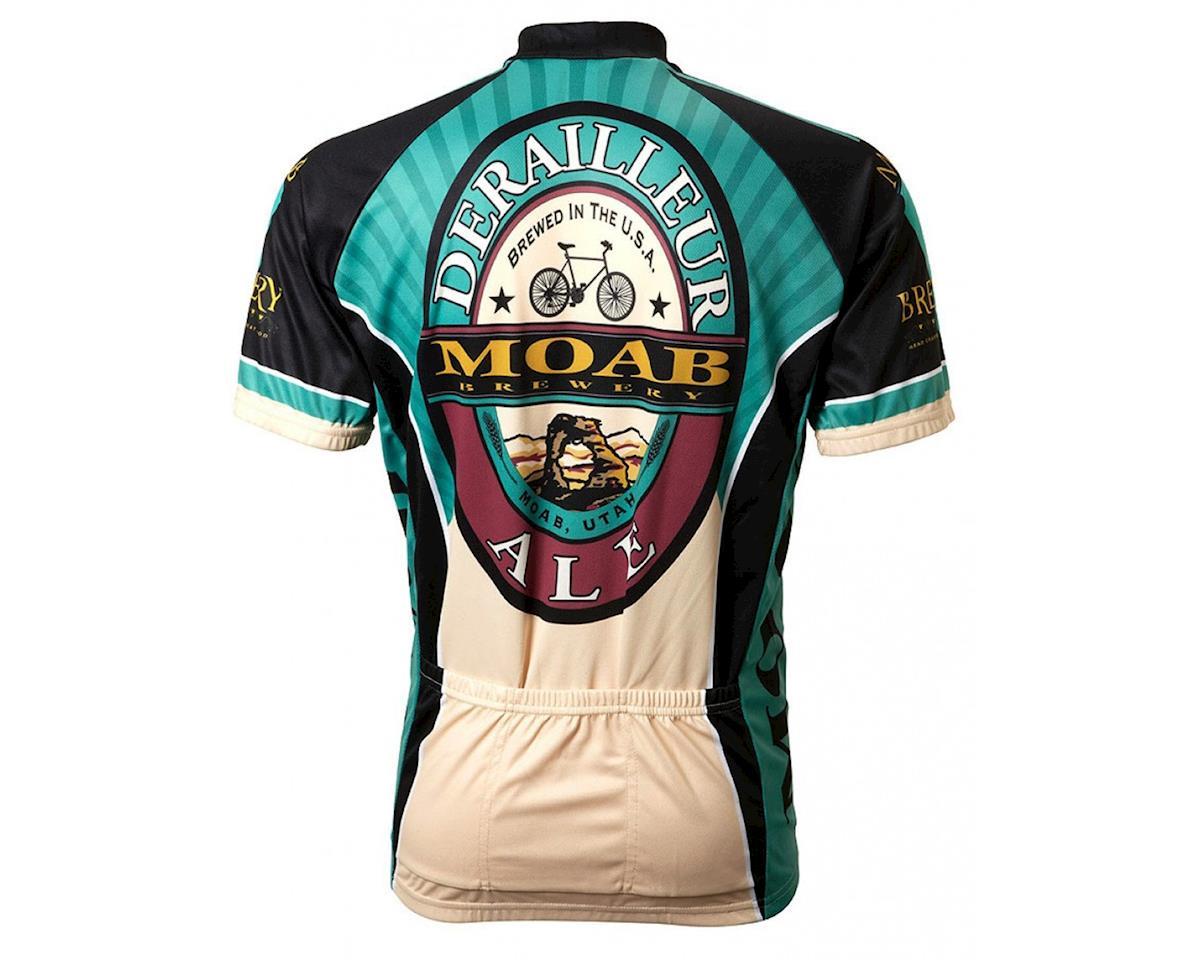 World Jerseys Moab Brewery Derailleur Ale 3/4 Sleeve Sleeve Jersey (Turquoi)