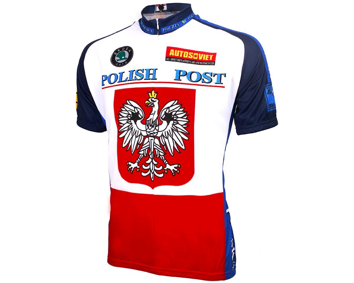 World Jerseys Polish Post Short Sleeve Jersey (Red/White/Blue)
