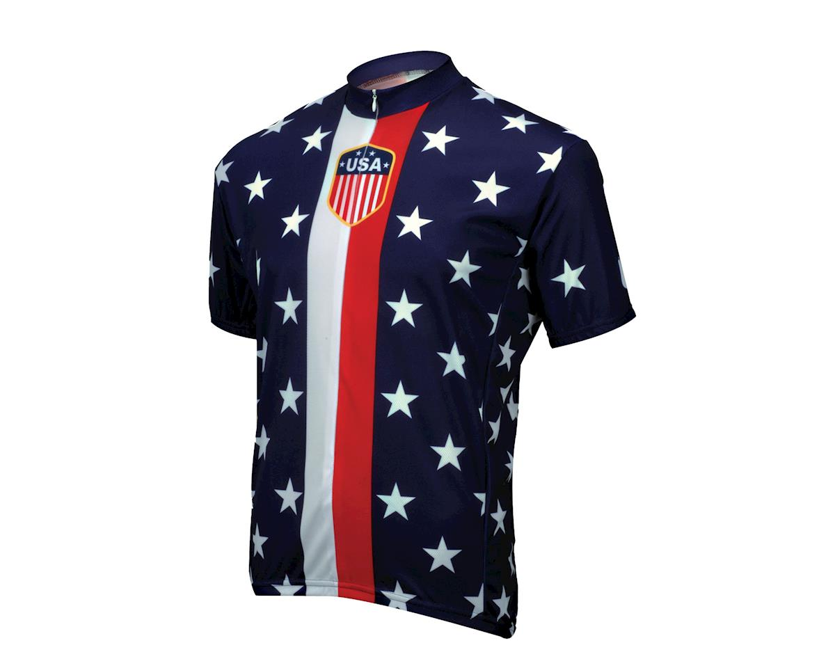 Image 1 for World Jerseys Retro 1956 USA Jersey (Blue)