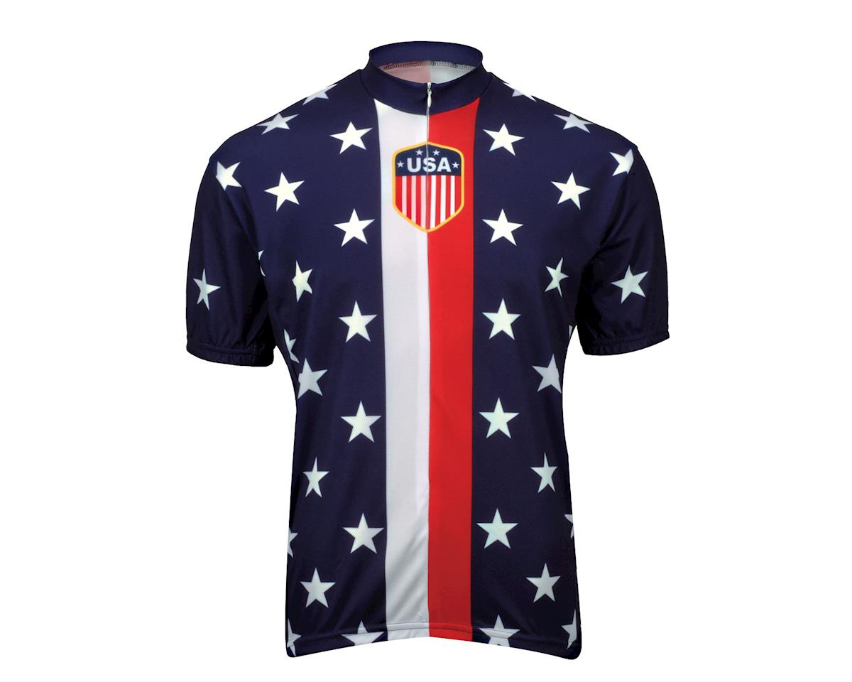 Image 2 for World Jerseys Retro 1956 USA Jersey (Blue)