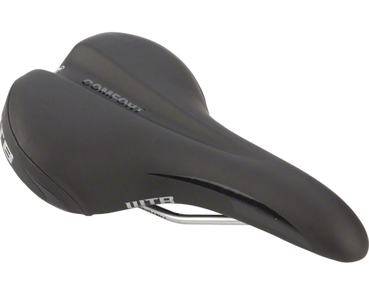 WTB Comfort Comp Saddle (Steel Rails) (Black/Silver)