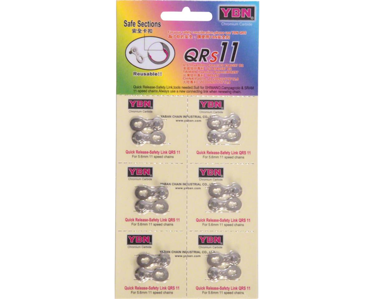 Ybn 11-Speed QRS Link, Card of 6, Reusable up to 5 times