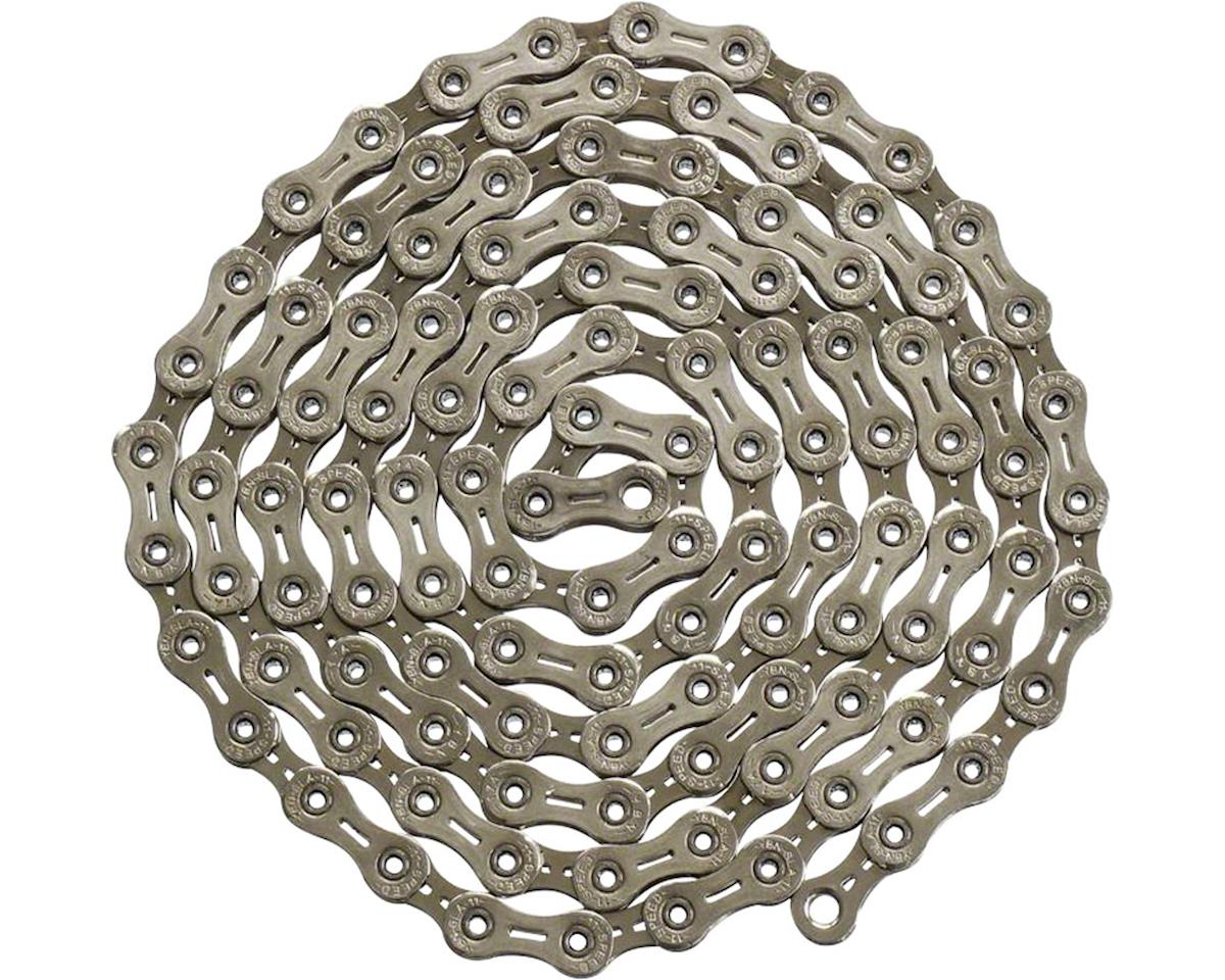 YBN Nickel Plated Chain - 11-Speed, 116 Links, Silver