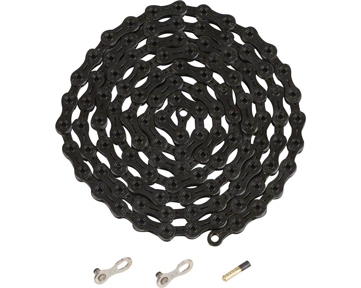 Ybn Ti-Nitride Black 11-speed Chain, 116 Links, 5.5mm Wide with One Reusable QRS