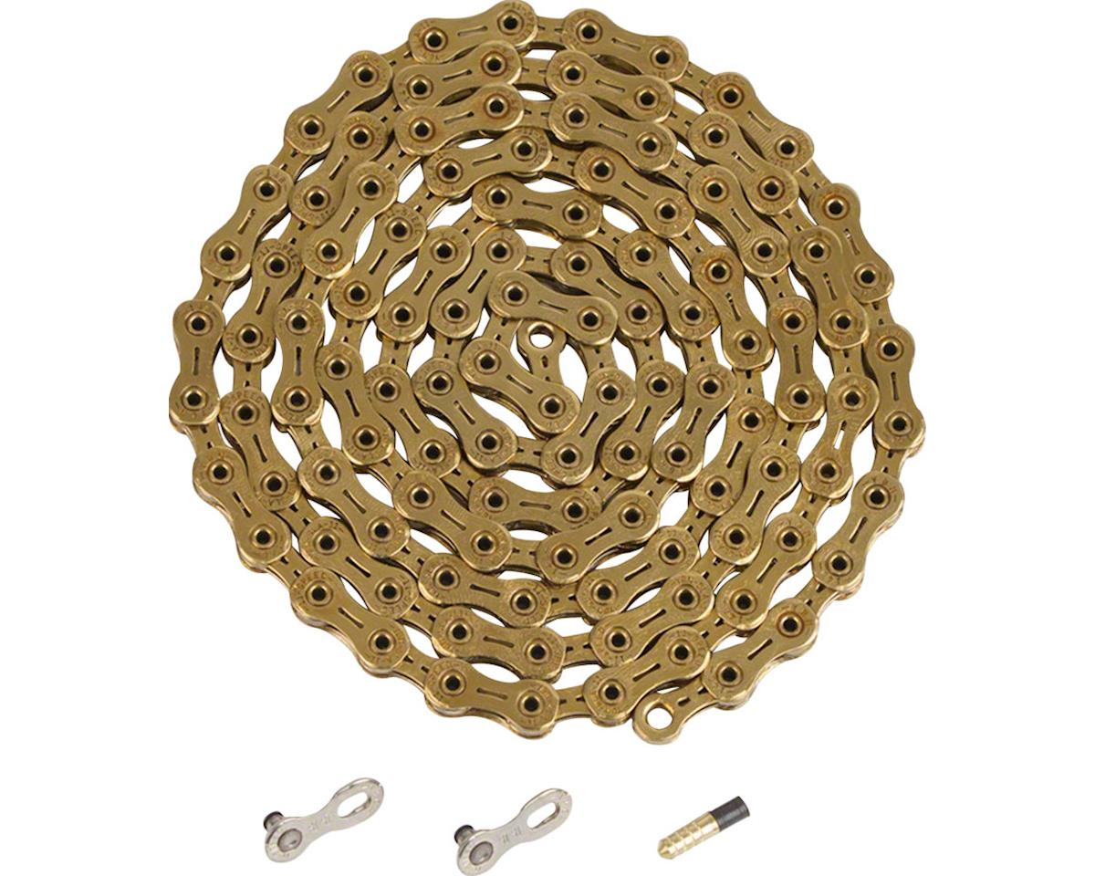 Ybn Ti-Nitride Gold 11-speed Chain, 116 Links, 5.5mm Wide with One Reusable QRS