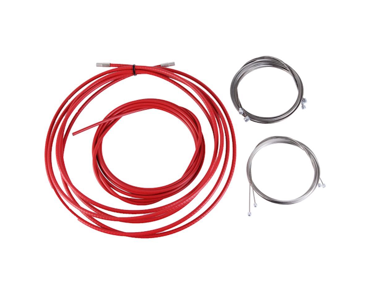 Reaction cable/casing kit, der/brake, rd/mtn - red