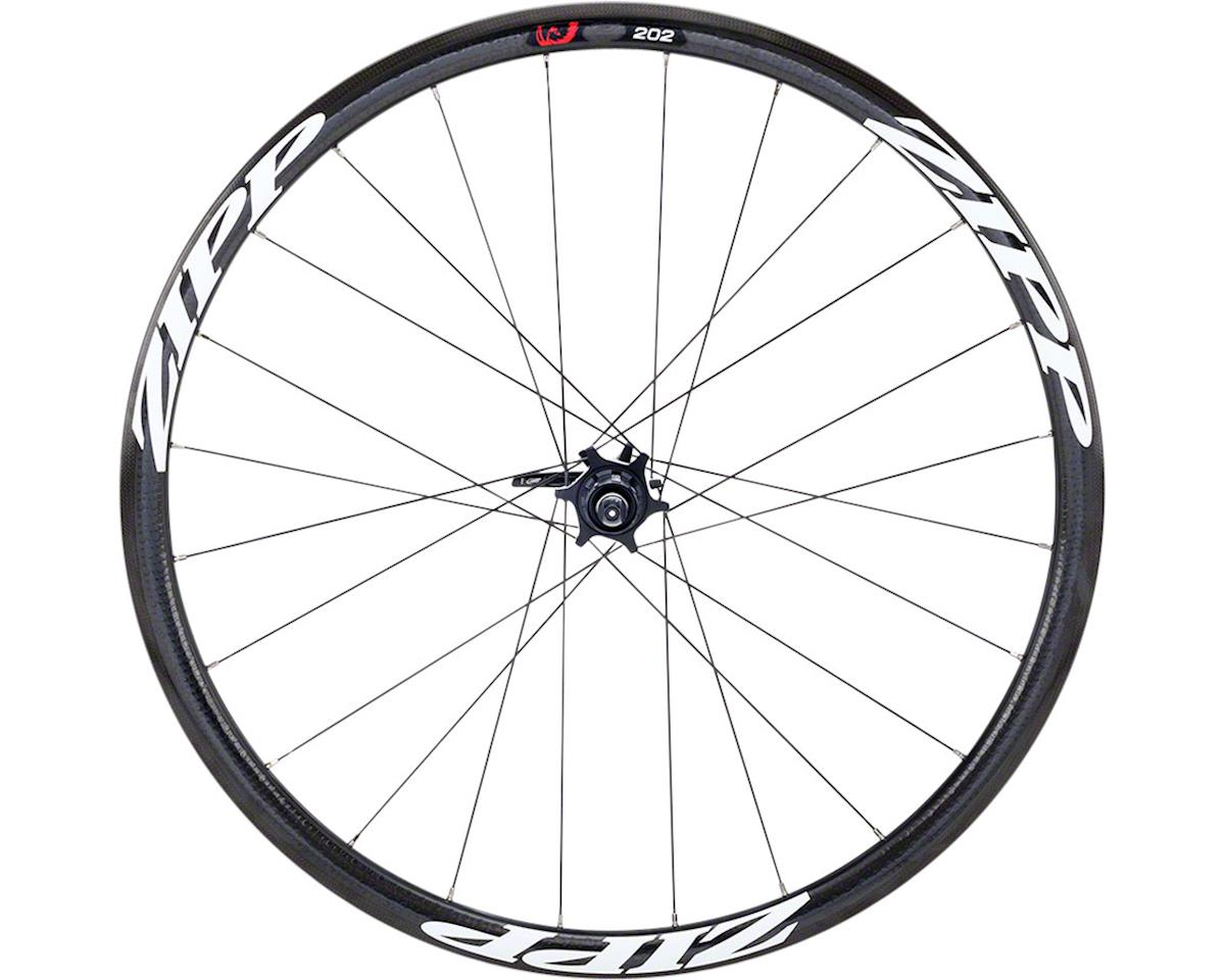 Zipp 202 Carbon Clincher 24 Spoke Rear Disc Brake Wheel (Black) (6-Bolt)