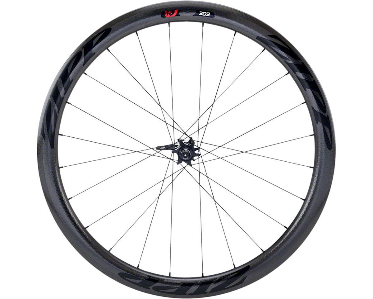 Zipp 303 Tubular Front Wheel (Black Decal) (700c) (6-Bolt Disc)