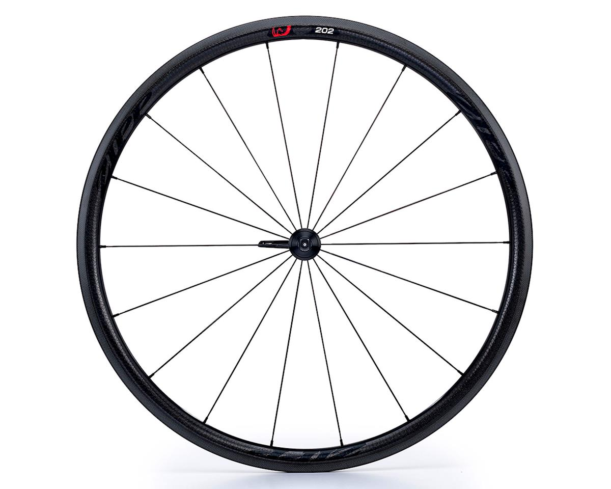 Zipp 202 Firecrest Carbon Clincher Front Wheel (Black Decal) (700c)