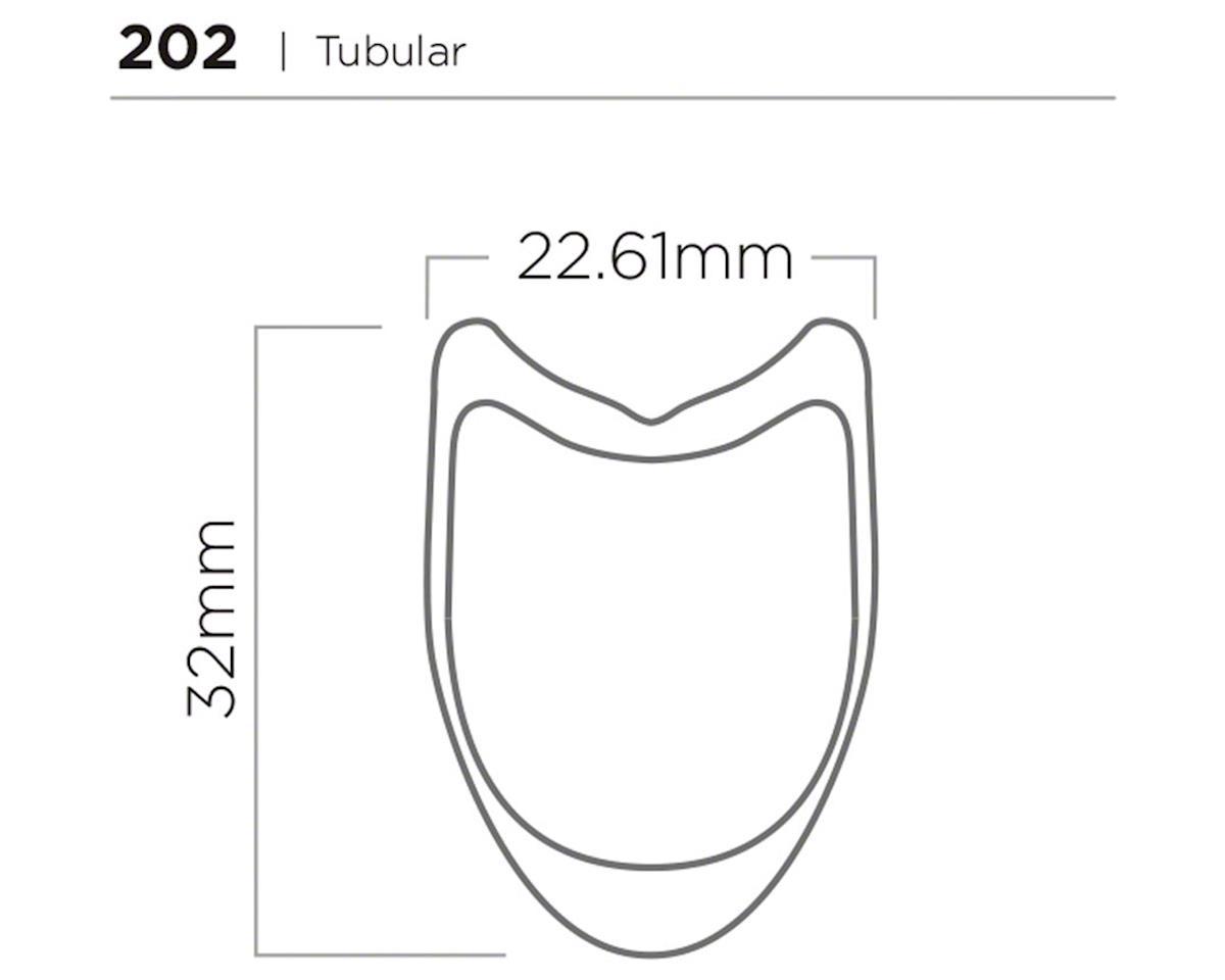 Zipp 202 Tubular Rear Wheel (Black Decal) (700c)