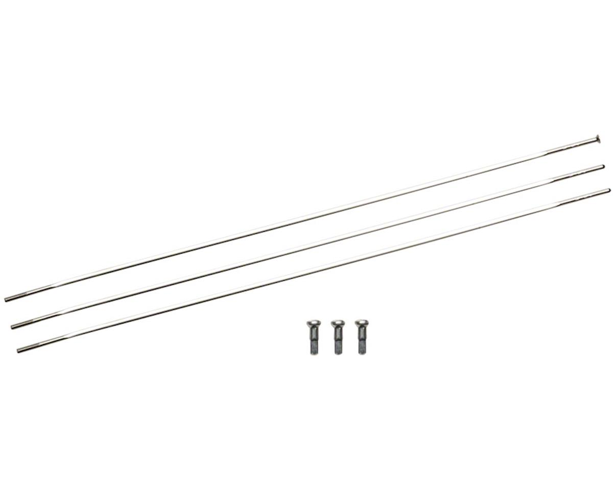 Zipp Sapim Straight Pull CXRay Spokes & Nipples (Silver) (224mm) (3-pack)