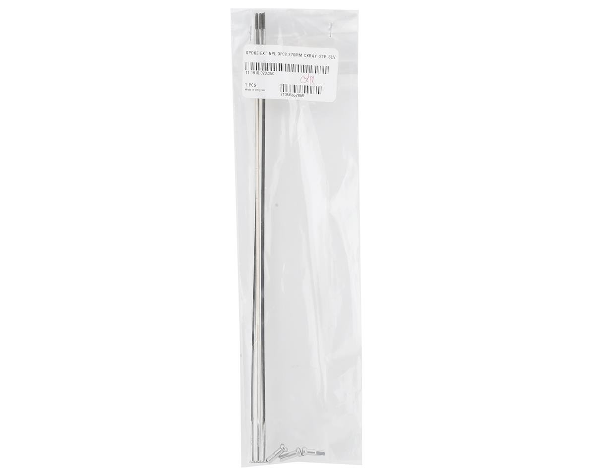 Zipp Straight Pull Spokes and Nipples (Silver) (CX-Ray) (270mm) (3-pack)
