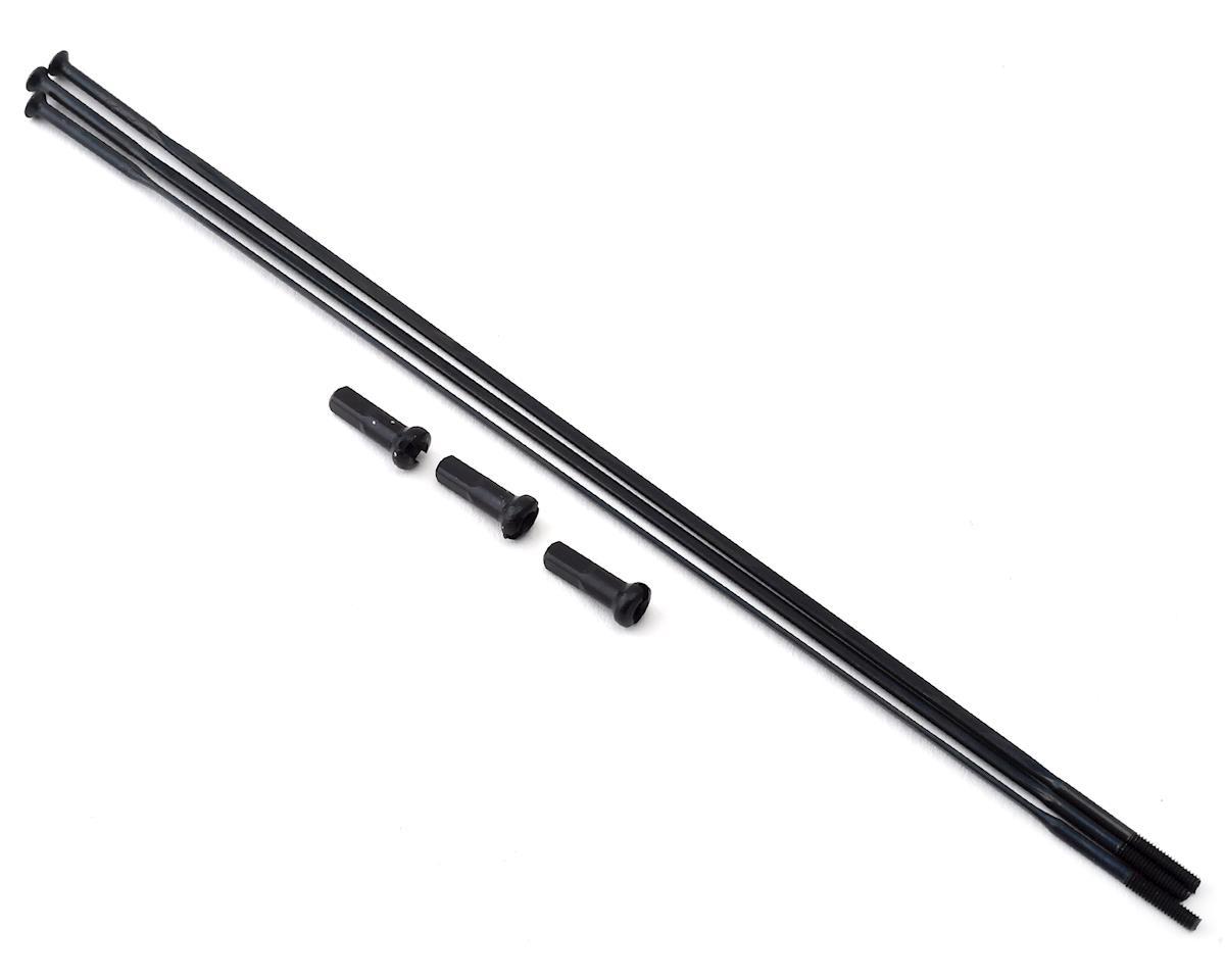 Zipp Straight Pull Spokes and Nipples (Black) (CX-Ray) (184mm) (3-pack)