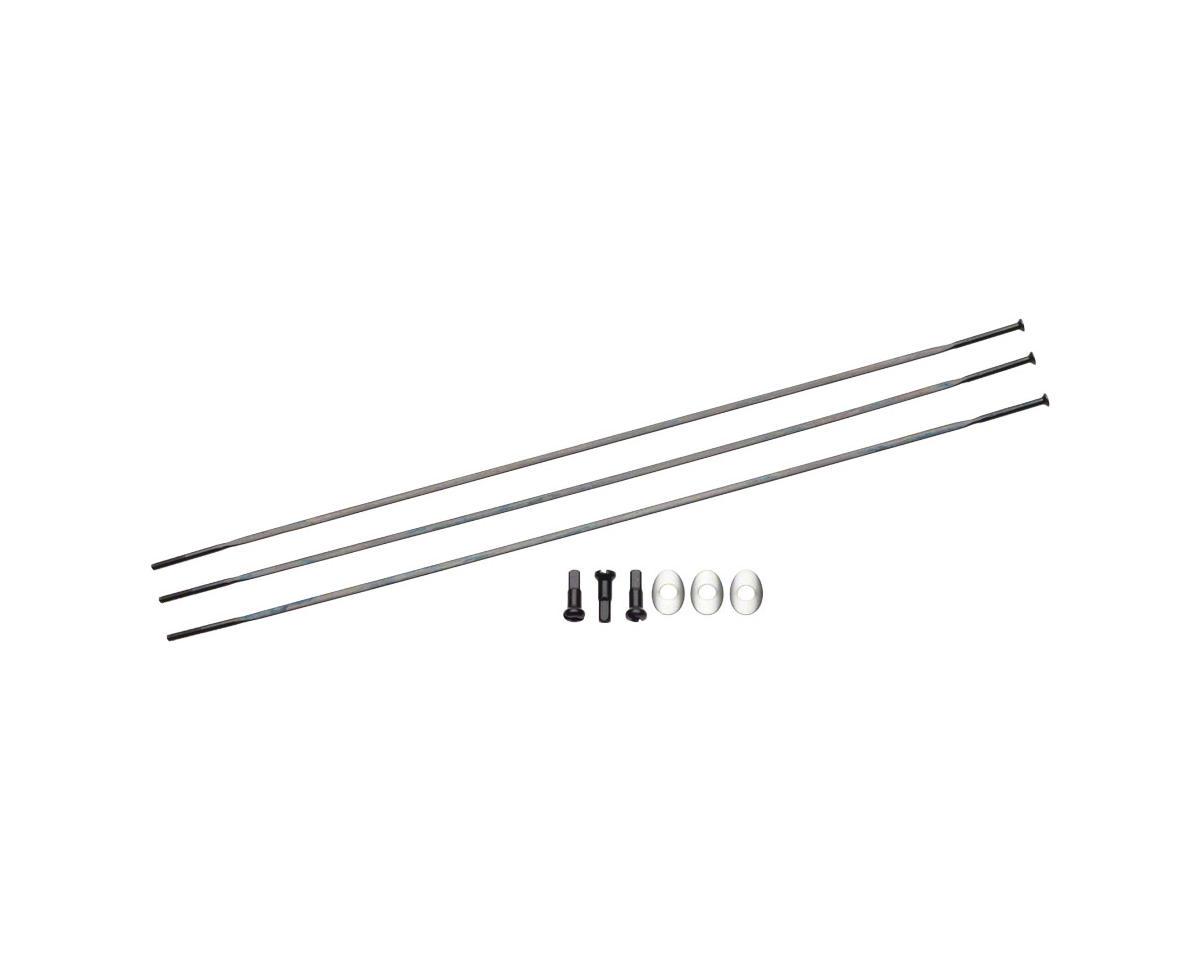 Zipp Sapim Straight Pull CXRay Spokes & Nipples (Black) (210mm) (3-pack)