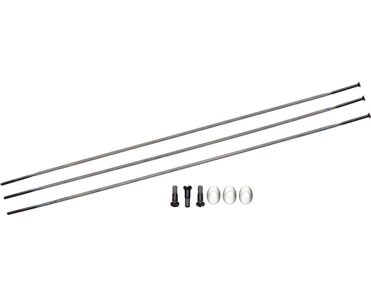 Zipp Spaim Straight Pull CXRay Spokes & Nipples (Black) (274mm) (3-pack)