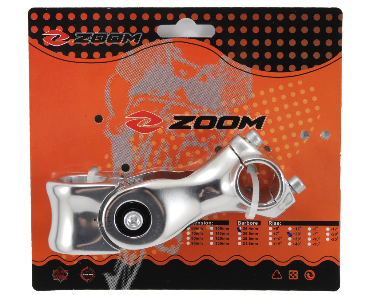 "Zoom Adjustable Angle 1-1/8"" Stem (Silver)"