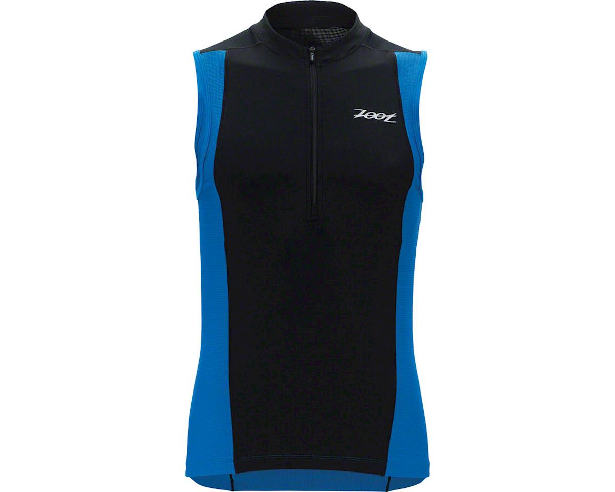 Zoot Performance Tri Full Zip Men's Tank: Volt Checkers LG