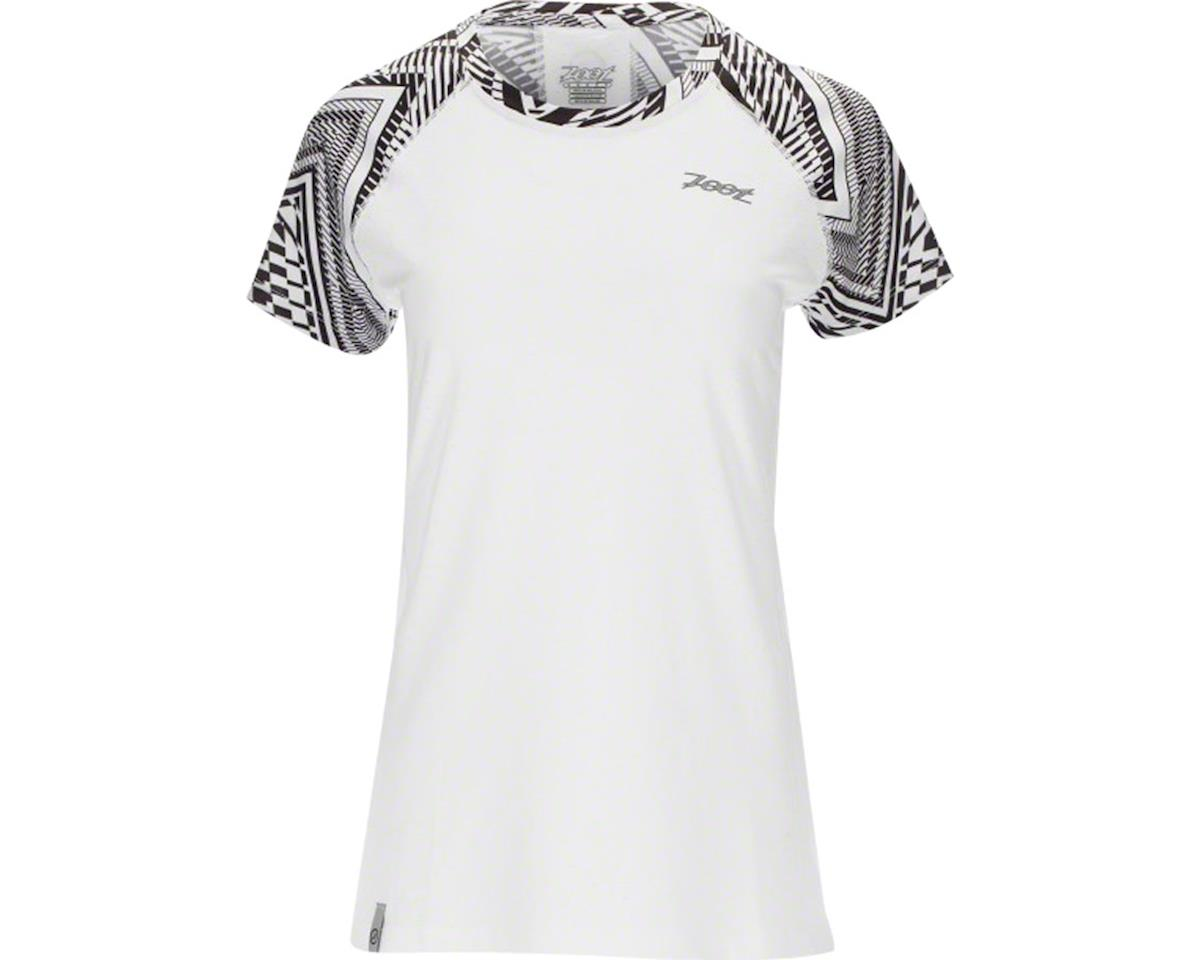 Zoot West Coast Tee Women's Run Top: Tribal Print White/Black XL