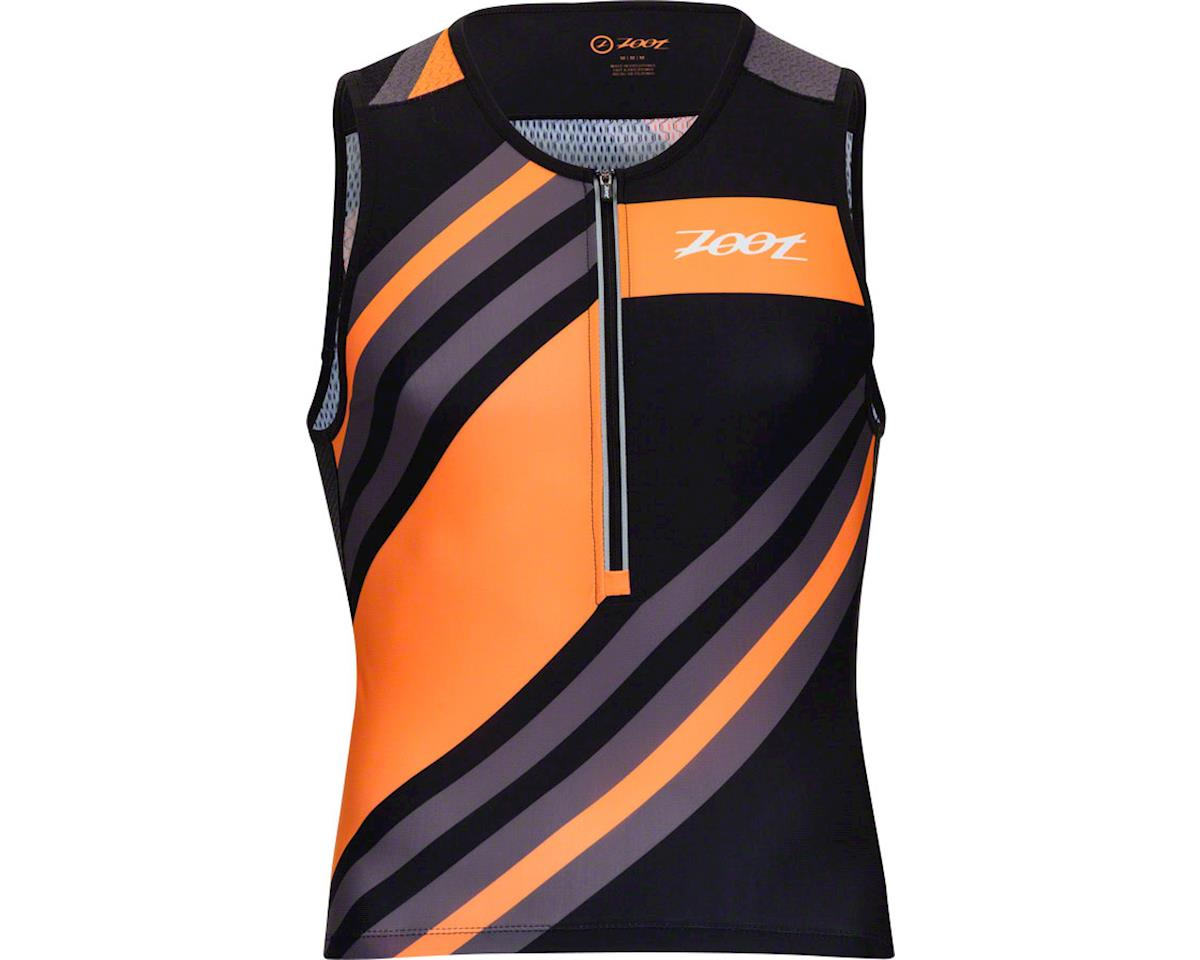 Zoot Ultra Tri Men's Tank: Racing Stripe SM